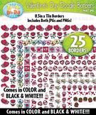 Valentine's Day Doodle Frame Borders {Zip-A-Dee-Doo-Dah Designs}