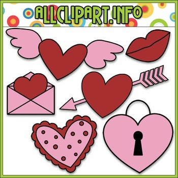 BUNDLED SET - Valentine's Day Doodles 1 Clip Art & Digital Stamp Bundle
