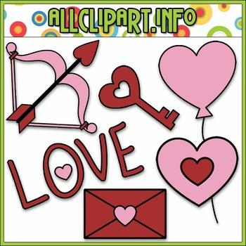 BUNDLED SET - Valentine's Day Doodles 2 Clip Art & Digital Stamp Bundle