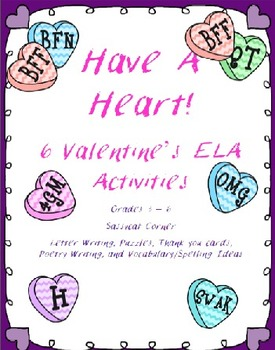 Valentine's Day ELA Fun with Candy Hearts