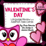 Valentine's Day ELA and Math Task Cards