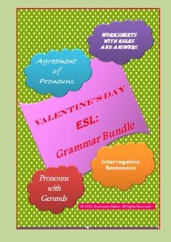 Valentine's Day ESL Grammar Bundle