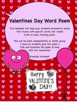 Valentines day easy poem template by room 19 kindergarten to college valentines day easy poem template maxwellsz