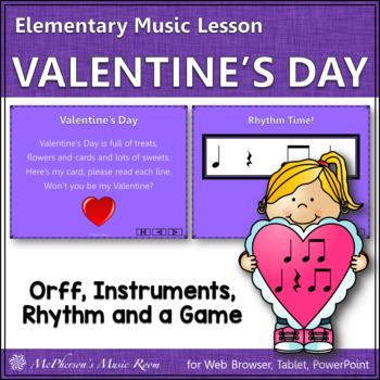Valentine's Day Music: Valentine's Day Orff, Rhythm & Instruments (Eighth Notes)