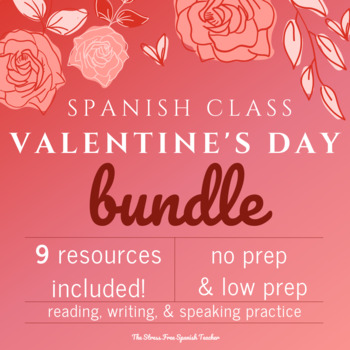 Valentineu0027s Day Spanish, San Valentin BUNDLE Of Activities