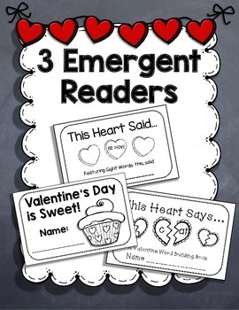 Valentine's Day {3 Emergent Readers, Craftivity, and Class Book}