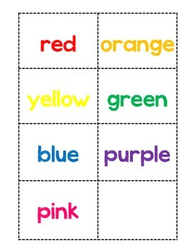 Valentine's Day Emergent Reader, Color Words