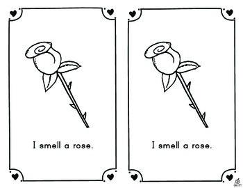 Valentine's Day Emergent Reader: Five Senses of Valentine's Day