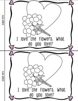Valentine's Day Emergent Reader: Interactive