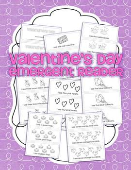 {Valentine's Day} Emergent Reader for Kindergarten