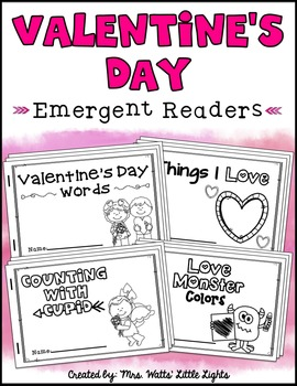 Valentine's Day Emergent Readers (4 Readers)