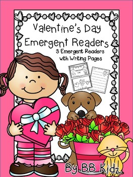 Valentine's Day Emergent Readers with Writing Paper {Kinde