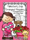 Valentine's Day Emergent Readers with Writing Paper {Kindergarten}