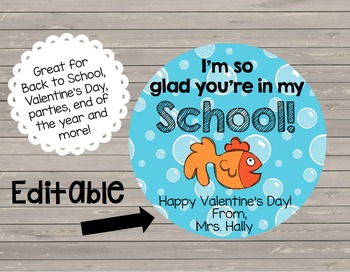Valentines Day - End of the Year - Back to School {EDITABLE} Cards - Notes