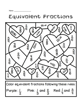 valentine 39 s day equivalent fractions activity by the busy class tpt. Black Bedroom Furniture Sets. Home Design Ideas