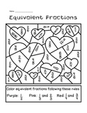Valentine's Day Equivalent Fractions Activity