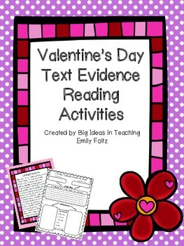 Valentine's Day Evidence Based Reading and Writing Activit
