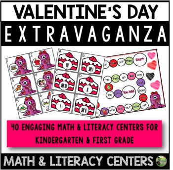 Valentine's Day Extravaganza (23 Math & Literacy Centers)