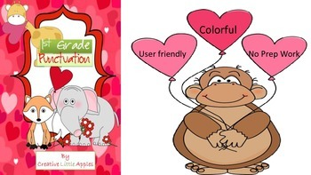 Valentine's Day - FIRST Grade - Punctuation - Common Core Aligned