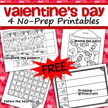 Valentine's Day No Prep Printables FREE