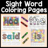 Sight Word Coloring Sheets Bundle {4 Sets of 100 pages!} {