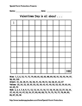 Valentines Day - LOVE Heart - Hundreds Chart!