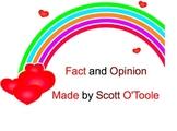 Valentine's Day Fact or Opinion Smartboard Language Arts Lesson