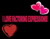 Valentines Day Factoring Expressions