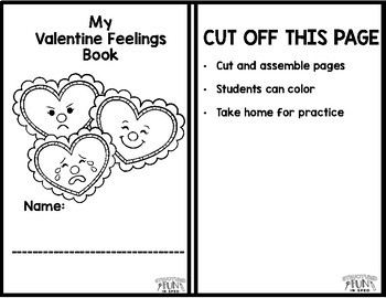 Valentines Centers Feelings Interactive Adapted Book Preschool, Special Needs