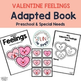 Valentines Centers Feelings Interactive Adapted Book Presc
