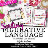 Valentine's Day Figurative Language Sorting Game, Digital and Printable