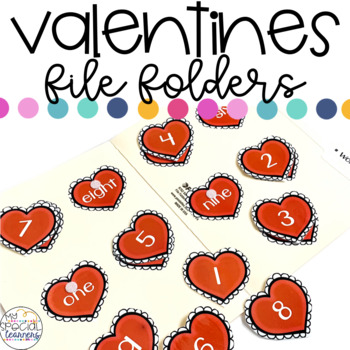 Valentine's Day File Folder Activities for Special Education
