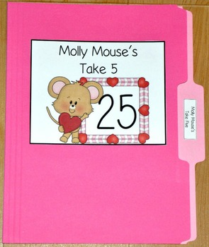 "Valentine's Day File Folder Game--""Molly Mouse's Take Five"""