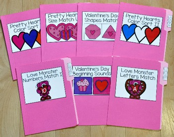 "Valentine's Day File Folder Games--""Valentine's Day Mini Bundle"""