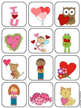 Valentine's Day File Folder Matching Game