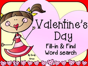 Valentine's Day Word Search: Fill-in-and-Find Phonics Puzzles