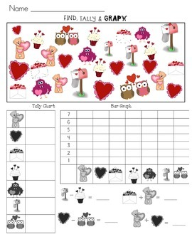 Valentine's Day: Find, Tally, Graph