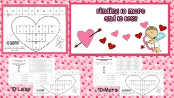 Valentine's Day ~ Finding 10 More 10 Less