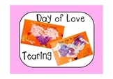 Valentine's Day  Craft on Card - Fine Motor Activity Teari