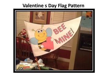 Valentine's Day Flag Pattern