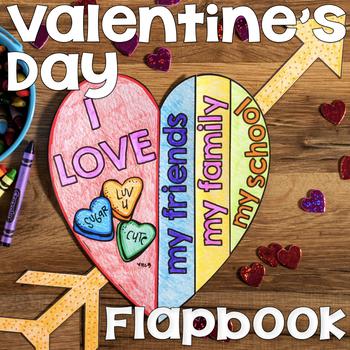 Valentine's Day Craft   Valentine's Day Activity   Valentine's Day Flapbook