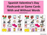 Spanish Valentine's Day Flashcards / Game Cards With and Without Words