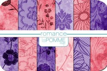 Valentine's Day Flowers Pink & Purple Patterned Digital Pa