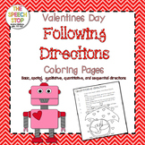 Valentines Day Following Directions Coloring Pages