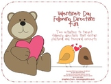 Valentine's Day Following Directions Fun for Speech Language Therapy