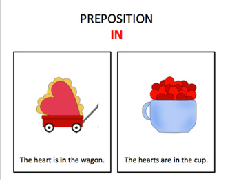 Valentine's Day Following Directions: Location/Spatial Concepts