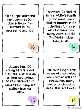 Valentines Day Food Math- For the Upper Grades