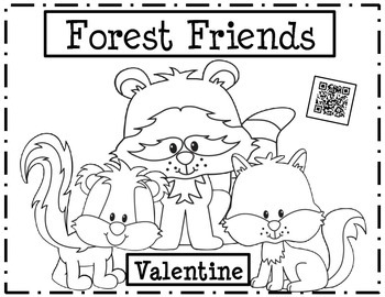 Valentine's Day Forest Friends Cards with Fun QR Codes