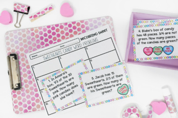 Valentine's Day Fraction Centers {Common Core Aligned}