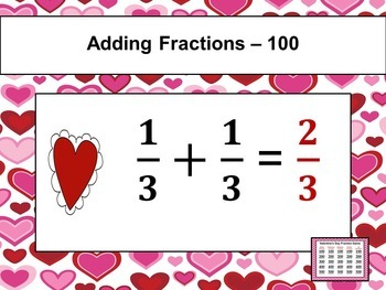 Valentine's Day Game - Fractions